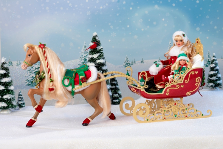 Dashing Through the Snow Sisters Sleigh Set | Crédito da imagem: Divulgação Mattel via Charitybuzz.com