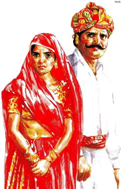 Exemplo de Rajasthani Dress | Crédito da imagem: www.4to40.com
