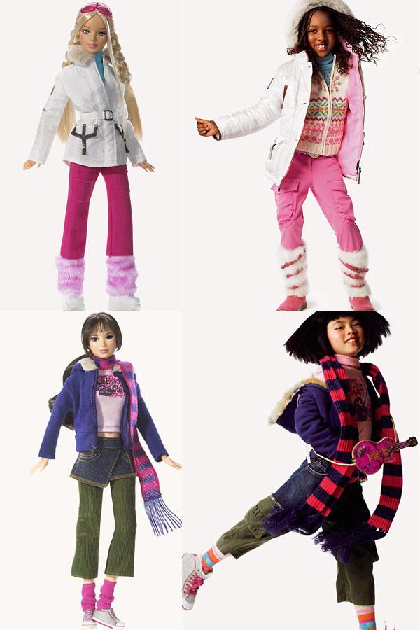 Bonecas e suas respectivas representações reais, celebrando St. Moritz (no alto) e Berlim (abaixo), wave 3 | Crédito da imagem: Divulgação Mattel/Benetton via lunalilacave.blogspot.com