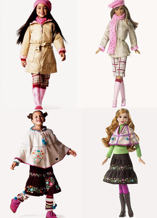 Mais bonecas da wave 3: Milão (no alto) e Moscou (abaixo)| Crédito da imagem: Divulgação Mattel/Benetton via lunalilacave.blogspot.com