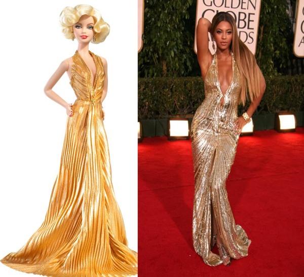 Créditos das imagens: Divulgação Barbie Collector/Mattel | Beyonce via hipcandy.blogspot.com
