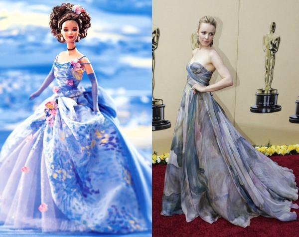 Créditos das imagens: Divulgação Barbie Collector/Mattel | Rachel: via http://fashion4fun.com.br