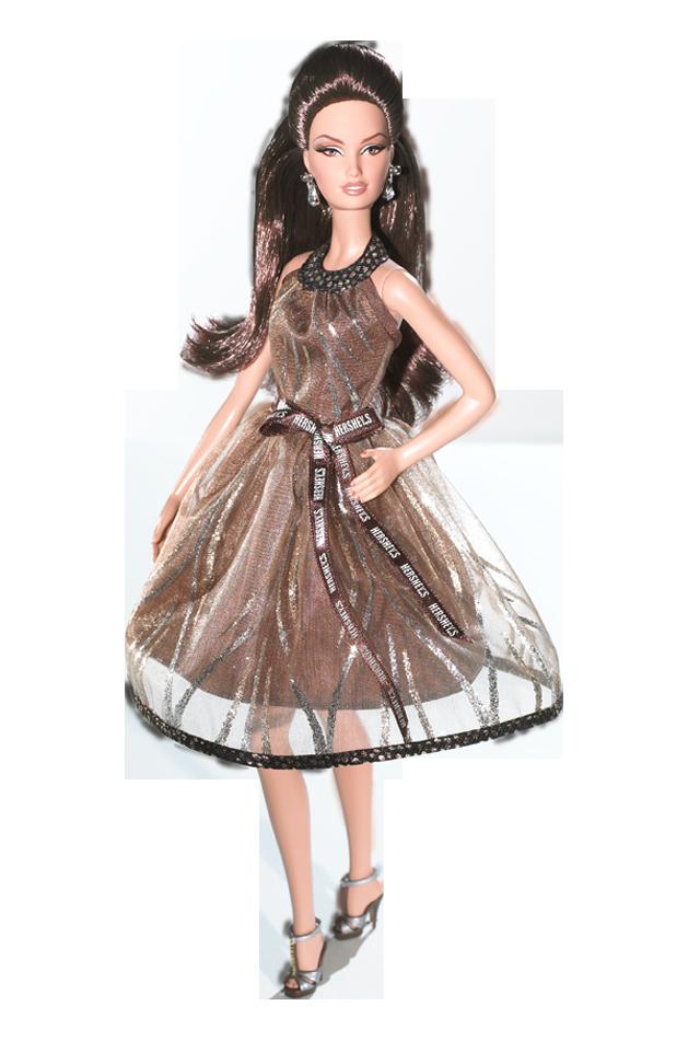 Hershey'™s Barbie Doll, de 2009, quando ainda havia a classificação Silver Label | Crédito da imagem: divulgação Barbie Collector/Mattel