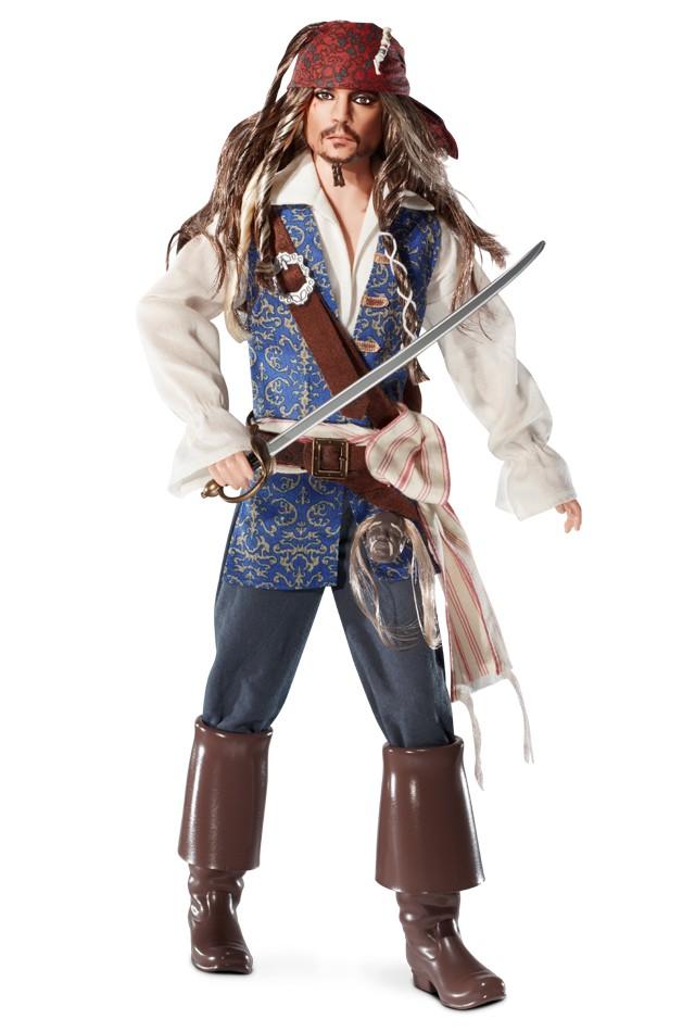 Captain Jack Sparrow Doll, lançado em 2011 na série Pop Culture | Crédito da imagem: divulgação Barbie Collector/Mattel