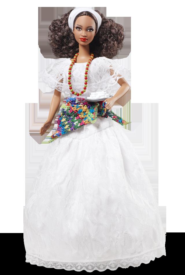 Lançada em 2012, a Brazil Barbie Doll também foi assinada por ela | Crédito da imagem: divulgação Barbie Collector/Mattel
