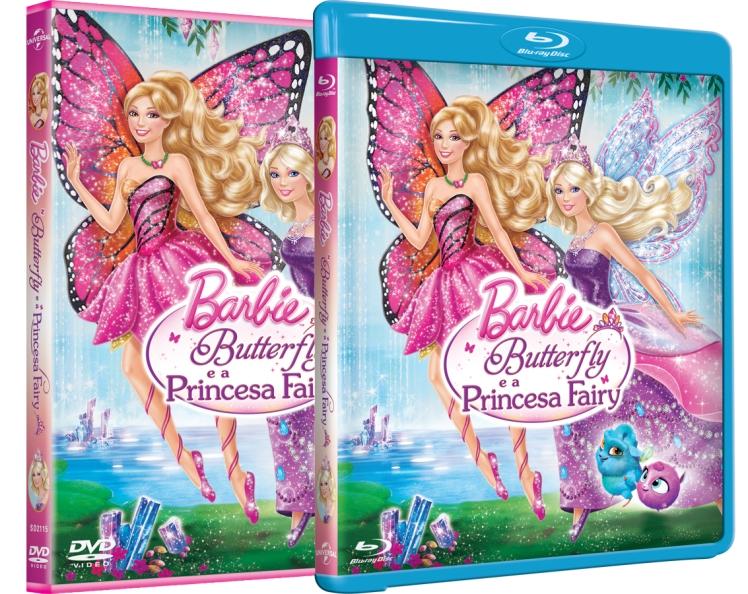 Da esquerda para a direita: DVD e Blu-Ray do novo filme da Barbie | Crédito das imagens: divulgação Universal Pictures