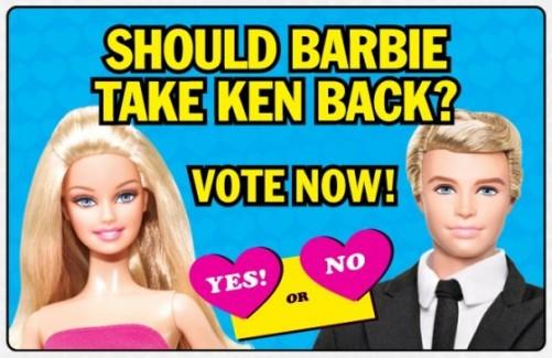 Campanha feita em 2011 para que o casal voltasse a ficar junto | Crédito da imagem: divulgação Mattel via nerdlike.com