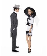 O traje da BFMC Toujours Couture foi a escolha para vestir Barbie nesse caso | Crédito da imagem: divulgação Colette/Mattel via glamour.de
