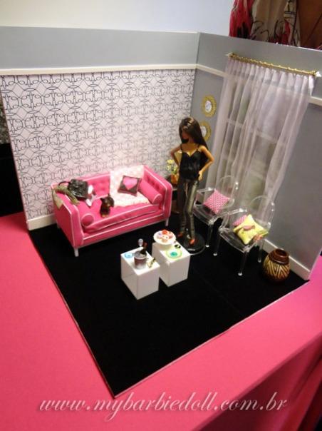 O cenário modelo, exemplo para nossa criação na oficina | Crédito da imagem: Samira | www.mybarbiedoll.com.br