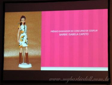 Prêmio do grande vencedor do Cosplay | Crédito da imagem: Samira | www.mybarbiedoll.com.br