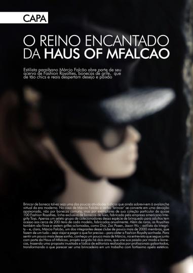 Uma das matérias sobre o trabalho de Marcio | Crédito da imagem: Marcio Falcao/arquivo pessoal