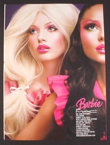 Campanha Barbie Loves MAC | Crédito da imagem: via magazinesadsandbooks.com