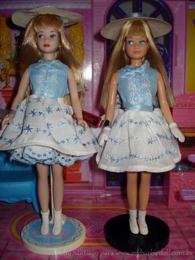 Da esquerda para a direita: versão de 30 anos e versão de 50 anos | Crédito da imagem: André Santiago para www.mybarbiedoll.com.br