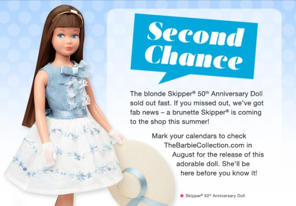 Crédito da imagem: divulgação newsletter www.barbiecollector.com/Mattel