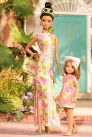 Lilly Pulitzer Barbie and Stacie Doll Giftset | Crédito da imagem: divulgação www.barbiecollector.com / Mattel