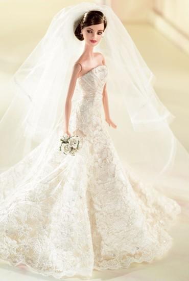 Carolina Herrera Bride Barbie Doll | Crédito da imagem: divulgação www.barbiecollector.com / Mattel