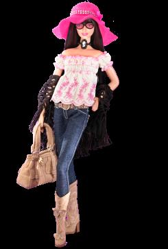 Anna Sui Boho Barbie Doll | Crédito da imagem: divulgação www.barbiecollector.com / Mattel