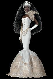 Byron Lars Charmaine King Barbie Doll | Crédito da imagem: divulgação www.barbiecollector.com / Mattel
