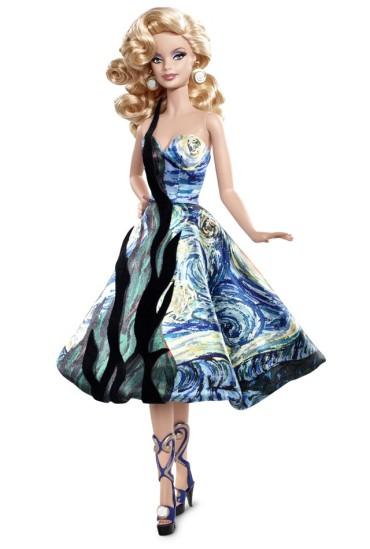 Vincent van Gogh Barbie Doll | Crédito da imagem: divulgação www.barbiecollector.com / Mattel
