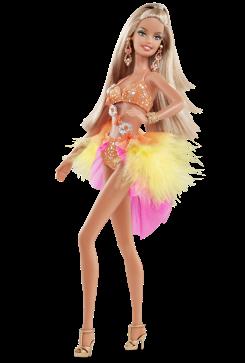 Dancing with the Stars Samba Barbie Doll | Crédito da imagem: divulgação www.barbiecollector.com / Mattel