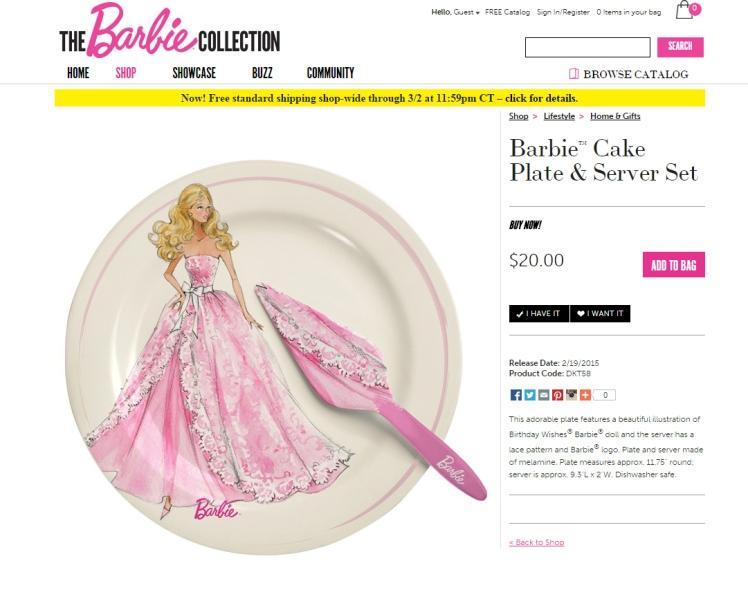 Crédito da imagem: divulgação www.barbiecollector.com